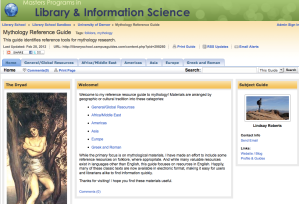 Mythology Libguide